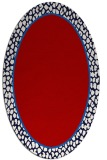 rug #1044650 | oval red borders rug