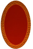 rug #1044654 | oval red animal rug