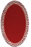 rug #1044658 | oval red rug