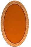 rug #1044670 | oval red-orange borders rug