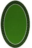 rug #1044682 | oval plain light-green rug