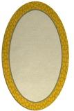 rug #1044714 | oval plain yellow rug