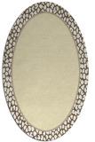 rug #1044718 | oval white animal rug