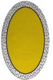 rug #1044722 | oval plain white rug