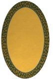 rug #1044726 | oval plain light-orange rug