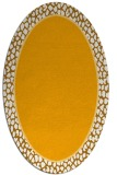rug #1044750 | oval light-orange borders rug