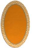 rug #1044758 | oval plain light-orange rug