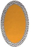 rug #1044762 | oval plain light-orange rug