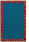 rug #1044890 |  plain blue-green rug