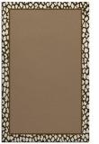 rug #1044922 |  plain mid-brown rug