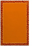 rug #1044970 |  plain red-orange rug