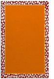 rug #1044974 |  plain orange rug