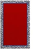 rug #1045018 |  plain red rug