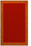 rug #1045022 |  plain red rug