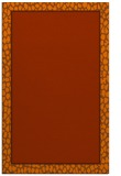 rug #1045034 |  plain red-orange rug