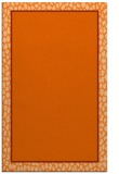 rug #1045038 |  plain red-orange rug