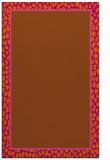 rug #1045042 |  plain red-orange rug
