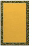 rug #1045094 |  plain yellow rug