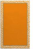 rug #1045126 |  plain light-orange rug