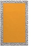 rug #1045130 |  plain light-orange rug