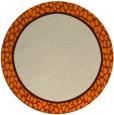 rug #1045134 | round plain orange rug