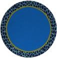 rug #1045166 | round plain blue rug