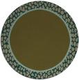 rug #1045250 | round plain mid-brown rug