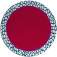 rug #1045254 | round red animal rug