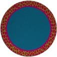 rug #1045258 | round plain blue-green rug