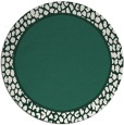 rug #1045270 | round plain blue-green rug
