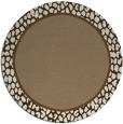 rug #1045290 | round beige borders rug