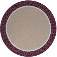 rug #1045298 | round pink borders rug