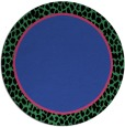 rug #1045334 | round plain black rug