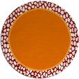 rug #1045342 | round plain orange rug