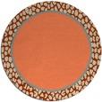 rug #1045346 | round plain orange rug