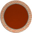 rug #1045348 | round plain rug