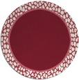 rug #1045358 | round plain pink rug