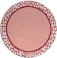 rug #1045366 | round plain pink rug