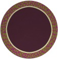 rug #1045374 | round plain purple rug