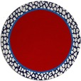 rug #1045386 | round red borders rug