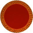 rug #1045390 | round plain red rug