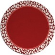 rug #1045394 | round red rug