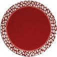 rug #1045394 | round plain red rug