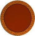 rug #1045402 | round red-orange borders rug