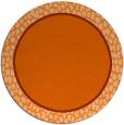 rug #1045406 | round plain red-orange rug