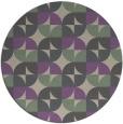 rug #104541 | round purple natural rug
