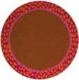 rug #1045410 | round red-orange borders rug