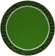 rug #1045418 | round plain light-green rug