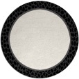 rug #1045422 | round black rug