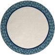 rug #1045442 | round plain white rug